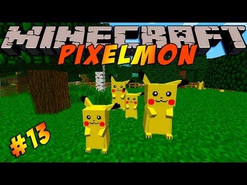 Minecraft Pokemon Mod!! Pixelmon Ep #13 - Pika Pika! - YouTube