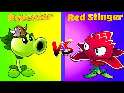 Plants vs Zombies 2 REPEATER vs RED STINGER