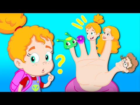 FAMILY FINGER SONG Groovy The Martian & Phoebe! Cartoon for kids & Nursery Rhymes