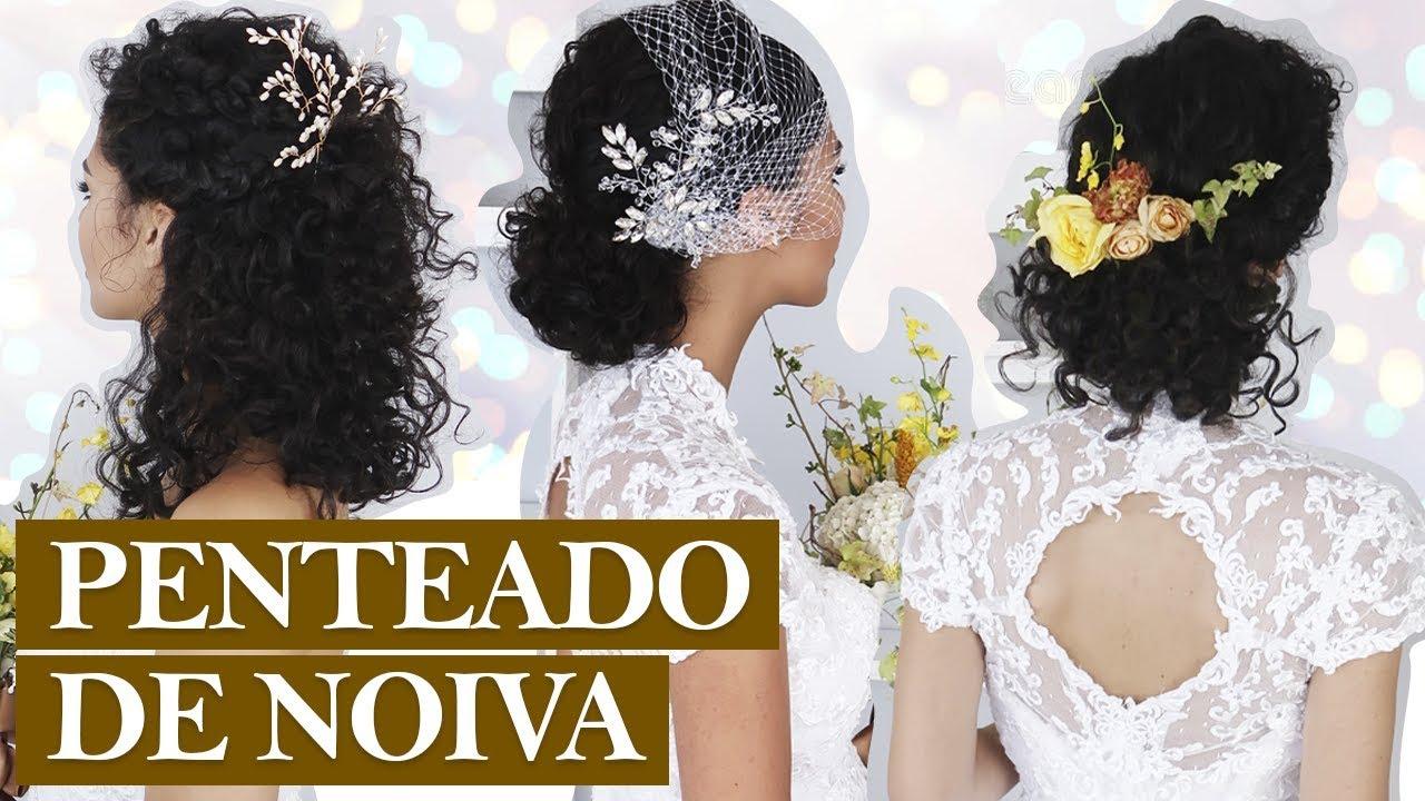 3 Penteados De Noiva Pra Cabelo Curto E Médio Noiva Cacheada Sérienoivas