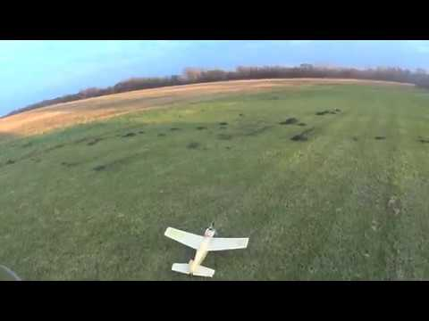 Cosmic Wind R/C model airplane with COX Tee Dee09 engine, flight video with