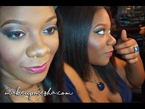 Client Makeup: Blue Smoke WOC  MakeupMesha
