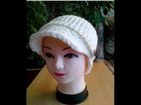 4 Loom Knitted News Boy Hat Addi Machine Part 1 Youtube