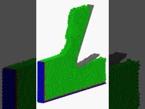 Cutting simulation of silicon