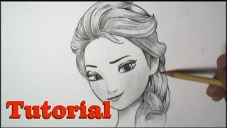 How to Draw Elsa from FROZEN (Tutorial)