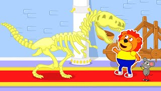 Lion Family Official Channel | Night at the Museum | Cartoon for Kids