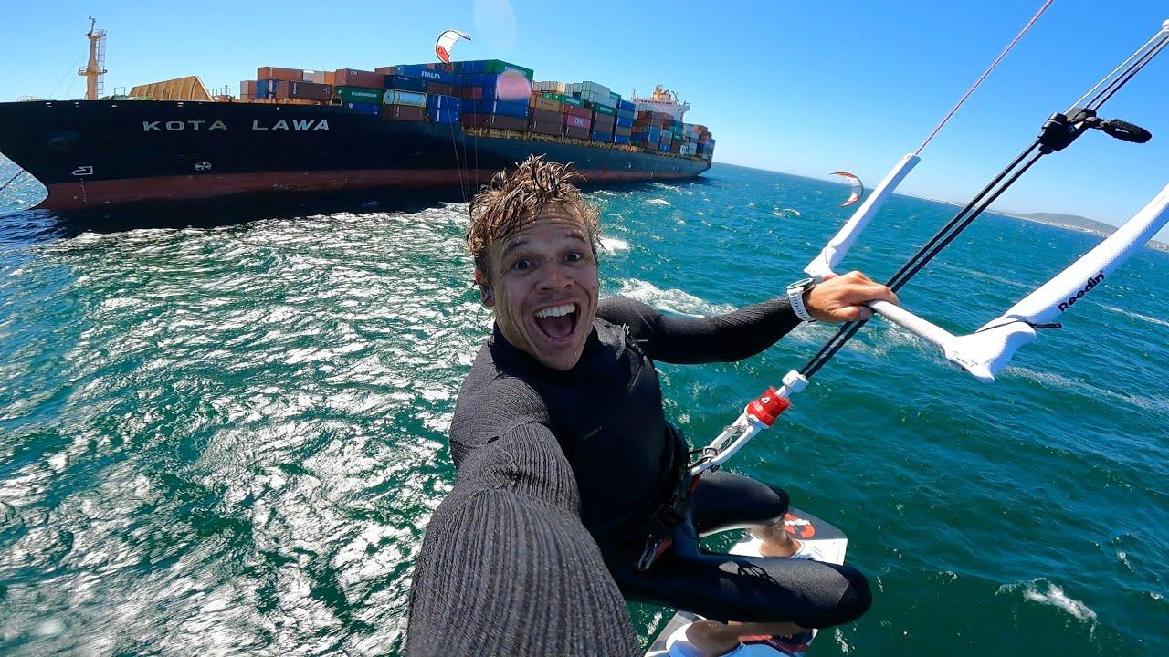 We kited to a massive ship! KEVVLOG⁵ #5