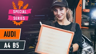 How to change Deflection / Guide Pulley, timing belt on AUDI A4 (8D2, B5) - online free video