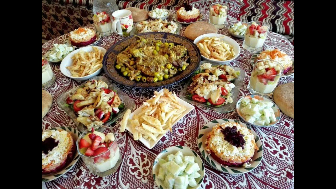 23200293e84d9 مائدة غداء متنوعة مع طبخ ليلى - YouTube
