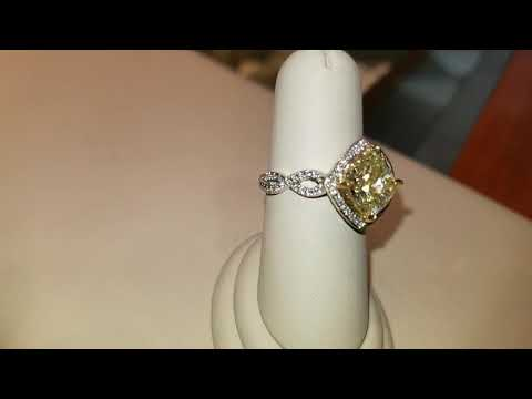 Yellow Diamond Ring from Levian Showcase at Zales