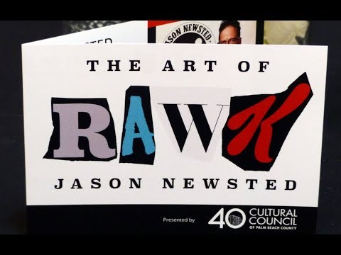 """Cultural Council of Palm Beach County """"RaWk – The Art of Jason Newsted""""  Introduction 11/30/17"""