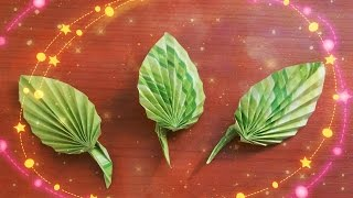 How To Create Cute Paper Leaves For Origami Rose, Greeting Cards, Decor. DIY Idears