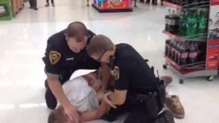 Man beatdown by cop in walmart
