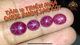 Đá Ruby sao yên Bái giá trên dưới 10 triệu đẹp không?? IRUBY