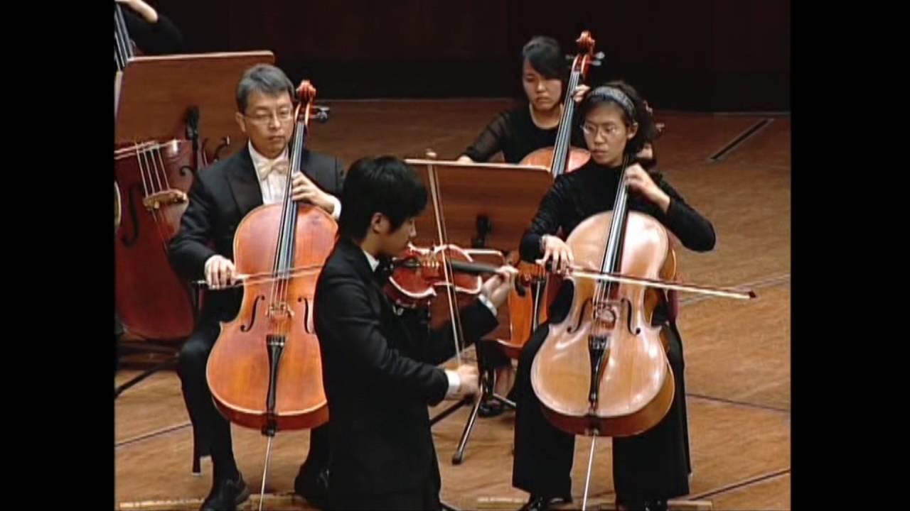 第九屆小提琴比賽得主-魏靖儀與臺灣絃樂團 - YouTube