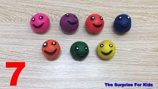 Learn Colors With Play Doh with Smiley Face