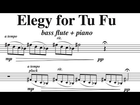 Elegy for Tu Fu, by David Bennett Thomas (Bass flute/Piano)
