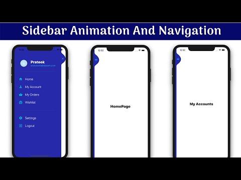 Sidebar Animation & Navigation   Flutter UI