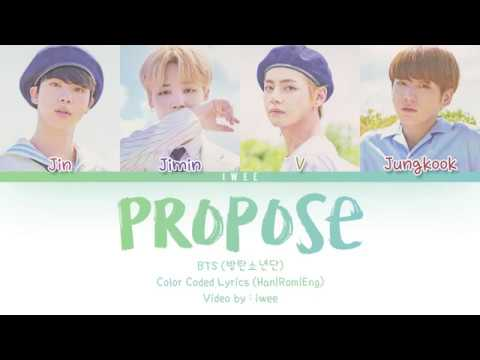 BTS (방탄소년단) - Outro : Propose (Han|Rom|Eng) Color Coded Lyrics/한국어 가사
