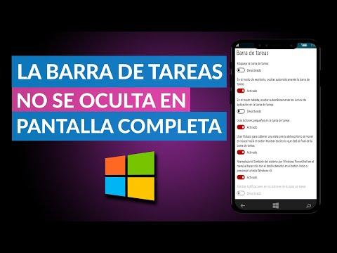 La Barra de Tareas no se Oculta con la Pantalla Completa en Windows 10 - Solución