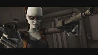 Star Wars: The Clone Wars - Aurra Sing vs. Ahsoka Tano & Padmé Amidala [1080p]