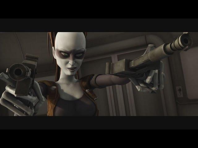 Star Wars: The Clone Wars - Aurra Sing vs  Ahsoka Tano & Padmé Amidala  [1080p]