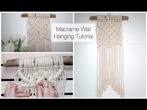 How To Make A Macrame Wall Hanging Tutorial (For Beginners)
