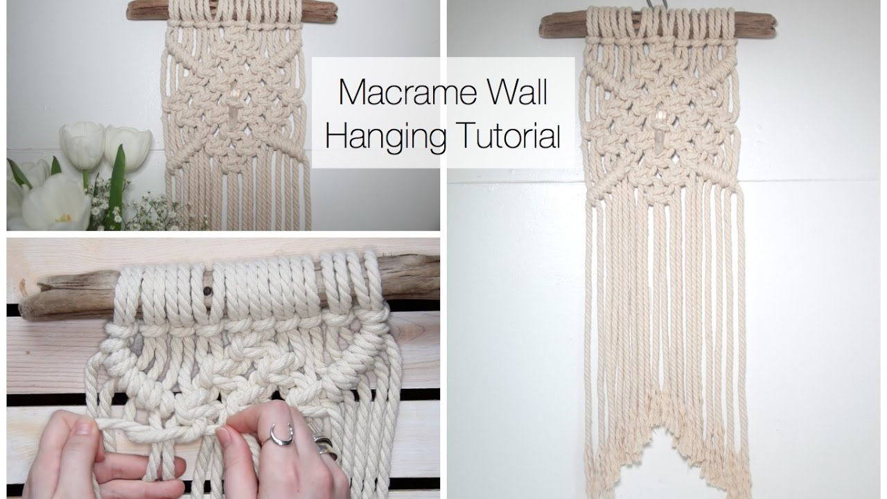 How To Make A Macrame Wall Hanging Dreamcatcher Tutorial Youtube
