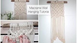 How To Make A Macrame Wall Hanging Tutorial