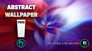 Abstract Fibers Effect #3 - Wallpaper Background in Adobe Photoshop CC 2019