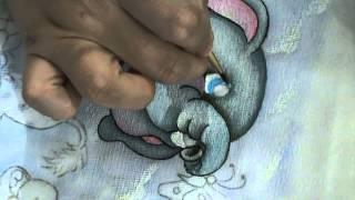 Pintando o Elefantinho e a borboleta