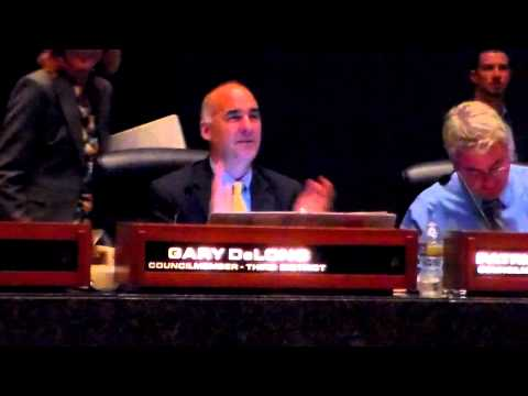 DeLong, City Council General Meeting, Long Beach, 10/2/12 (Part 1)