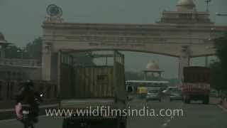 Drive through lucknow city, Uttar Pradesh