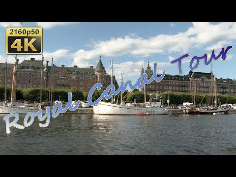 Royal Canal Tour in Stockholm - Sweden 4K Travel Channel