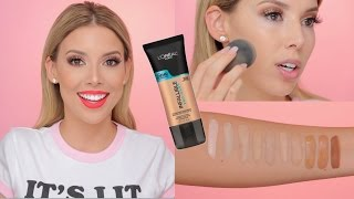 L'Oreal Pro Glow Foundation Review, Demo, Swatches! | LustreLux