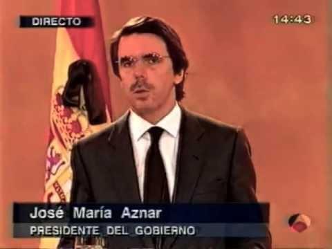 A3 Especial Informativo - 11 marzo 2004 - Rueda de prensa