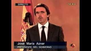 A3 Especial Informativo - 11 marzo 2004 - Rueda de prensa J. M. Aznar