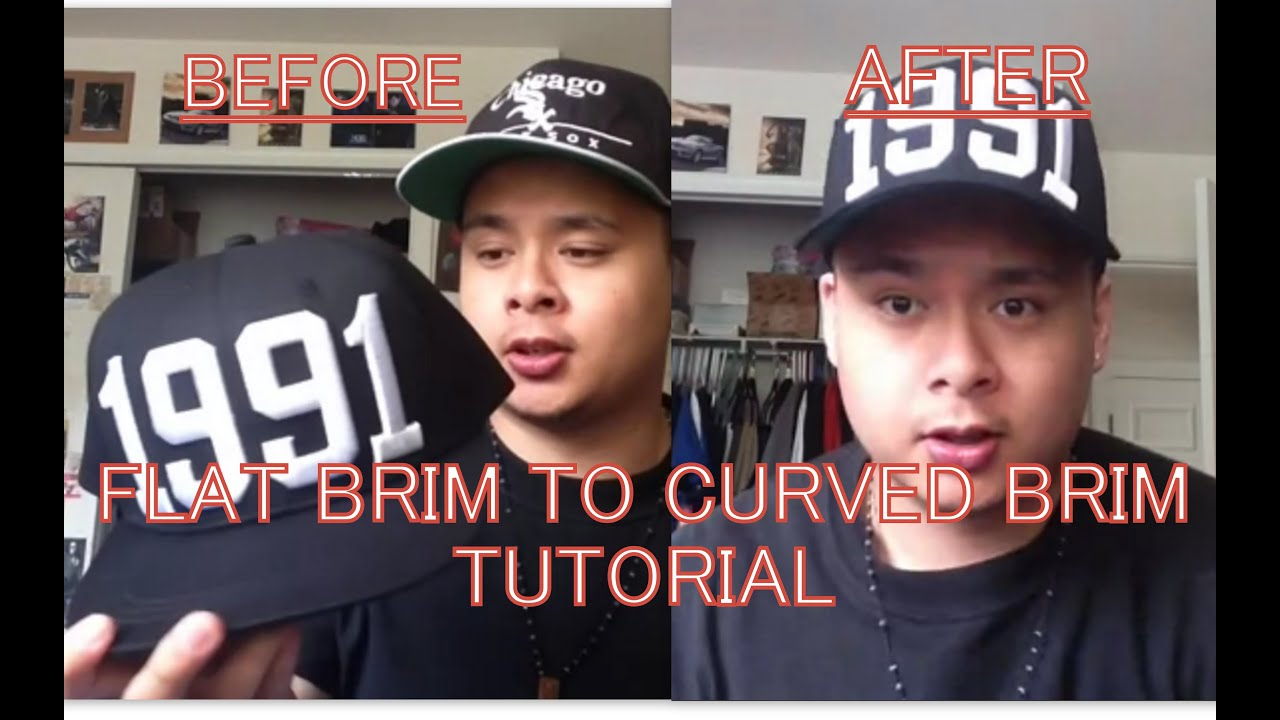 How To Turn Flat Brim Hats Into Curved Brim Hats (Easiest and Fastest Way) ed7f4be4922