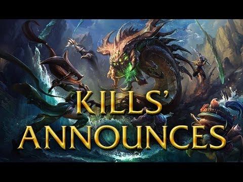 LoL Voices - Kills' Announcements - 14 languages