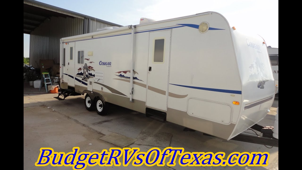 this 2006 cougar 294 by keystone rv sleeps six in style and this 2006 cougar 294 by keystone rv sleeps six in style and comfort that is camp ready