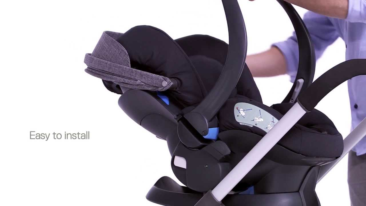 izi sleep car seat video safe with flat sleep position youtube. Black Bedroom Furniture Sets. Home Design Ideas