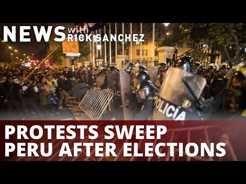 Violent protests rock Peru following neck-&-neck election