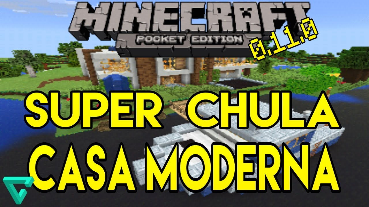Super casa moderna minecraft pe mapa funnydog tv for Casa moderna minecraft pe 0 10 5