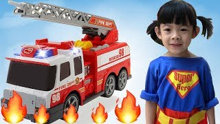 Bé Tập Làm Lính Cứu Hỏa - Training And Playing Firemen For Kids ❤ AnAn ToysReview TV ❤