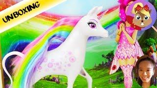 超级可爱儿童玩偶 米娅和我 独角兽彩虹小马 娃娃仙女精灵 套装展示
