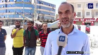 متعطلون عن العمل في المفرق يعتصمون لليوم الثامن على التوالي (23/9/2019)