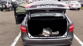 Открытие крышки багажника полностью Lada Vesta.