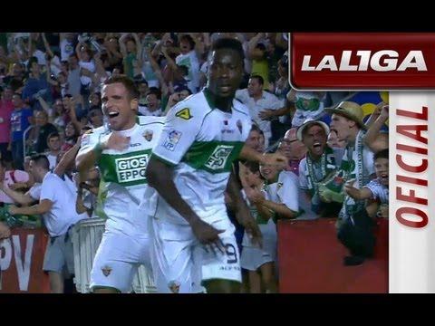 Gol de Boakye (1-1) en el Elche CF - Real Madrid - HD