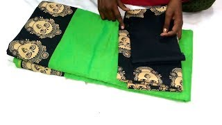 kalamkari Design blouse cutting and stitching kalamkari sarees blouse easy method blouse design