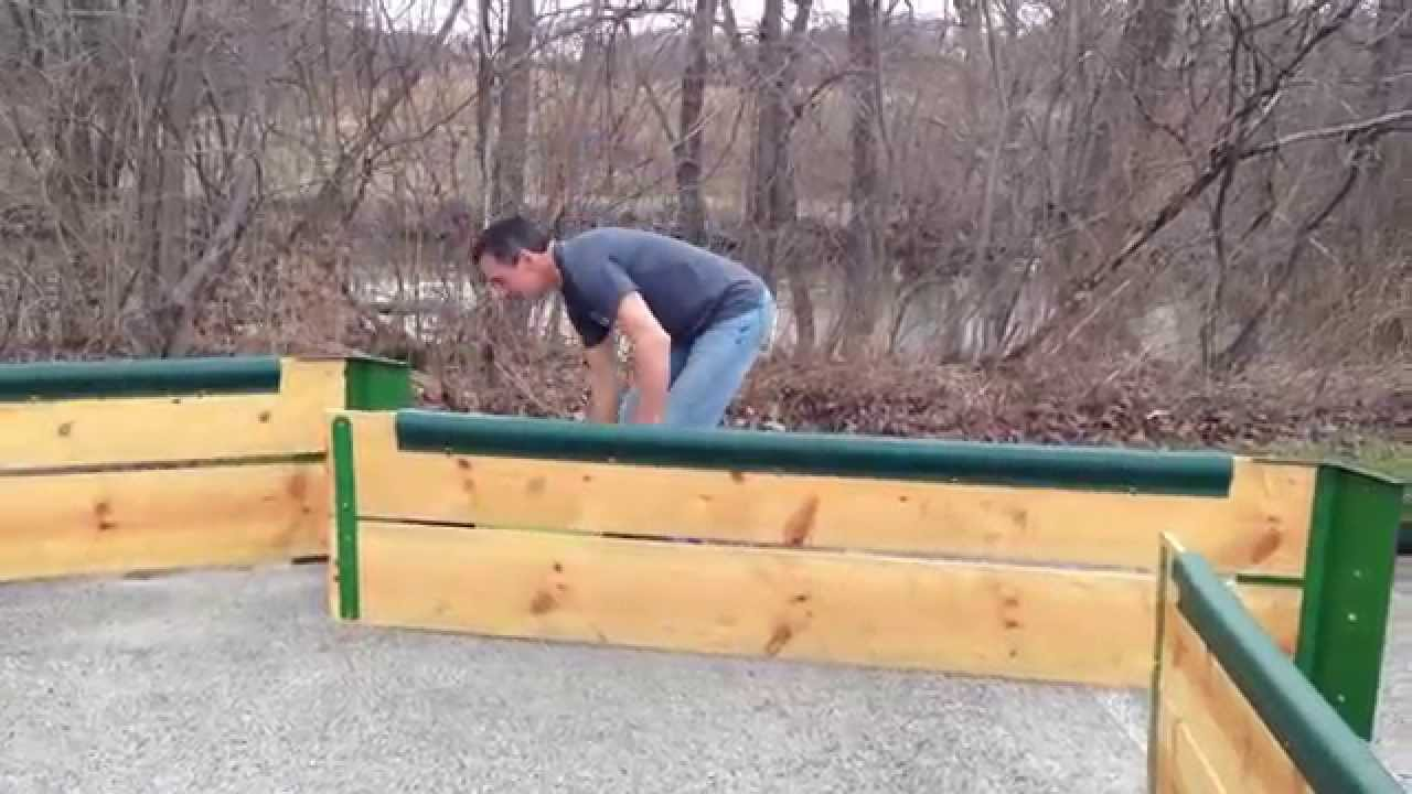 Gaga Ball Pit Quick Connect Kit aka Portability Bracket Demo by ...